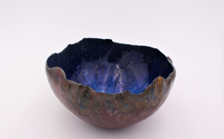 coupe-bleu-marron-grés-ceramique